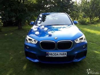Auto na ślub, wesele, BMW X1+kierowca wynajem, wolne terminy wrzesień, Samochód, auto do ślubu, limuzyna Żabno