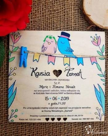 Drewniane zaproszenia ślubne, Zaproszenia ślubne Bytom