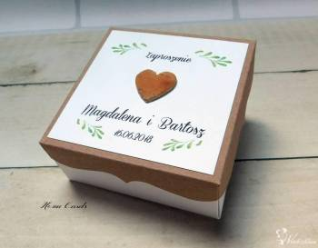 HomeCards Zaproszenia ślubne, winietki, pudełeczka, Zaproszenia ślubne Jelcz-Laskowice