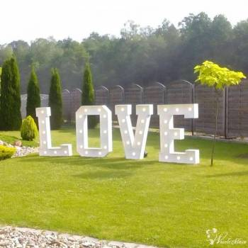 Napis Love, Dekoracja Światłem, POLECAMY, Napis Love Łask