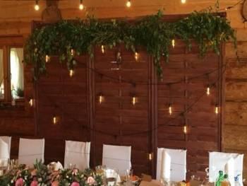 Drewniana ścianka weselna | TŁO ZA MŁODYMI | Styl rustykalny/boho, Dekoracje ślubne Karczew