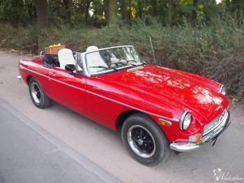 Czerwony kabriolet na ślub, Samochód, auto do ślubu, limuzyna Chodzież