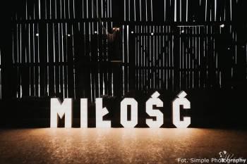 Podświetlany napis MIŁOŚĆ 100cm LED - SPRZEDAM!, Dekoracje światłem Stawiszyn
