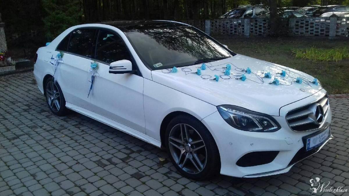Limuzyna. Biały mercedes E klasa AMG.Samochód do ślubu.Tanio.Wynajem., Wołomin - zdjęcie 1