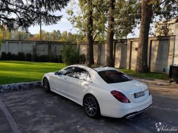 auto do ślubu, nowy Mercedes S klasa long biała perła, Samochód, auto do ślubu, limuzyna Kałuszyn