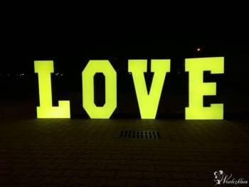 Napis LOVE 100cm LED RGBW na wesele, Napis Love Lędziny