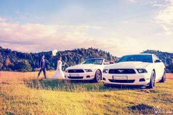 Mustang COUPE i CABRIO, którego z koników poprowadzisz w dniu ślubu:), Samochód, auto do ślubu, limuzyna Nowy Sącz