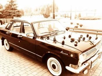 Czarna Wołga do ślubu, Samochód, auto do ślubu, limuzyna Kępno