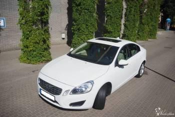 Auto klasy premium - Lśniące Białe Volvo s60 II, Samochód, auto do ślubu, limuzyna Nowogród