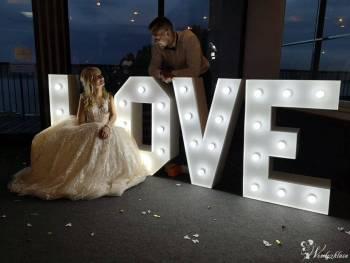 Napis Love Led podświetlany 100cm !, Dekoracje ślubne Czersk