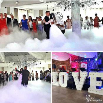 Ciężki dym, napis love, auto do ślubu, Ciężki dym Lipno