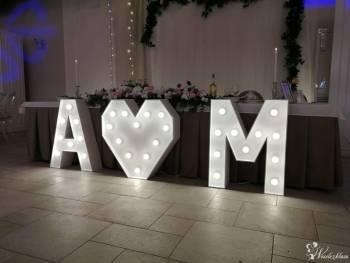 Świecące litery inicjały serce i napis LOVE, Dekoracje światłem Pruszków