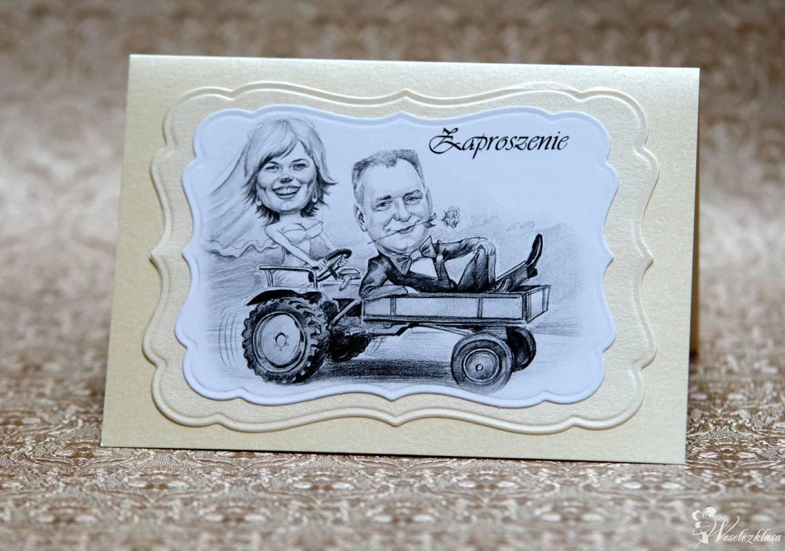 Zaproszenia ślubne z karykaturą Andrzej Żewecki, Kraków - zdjęcie 1