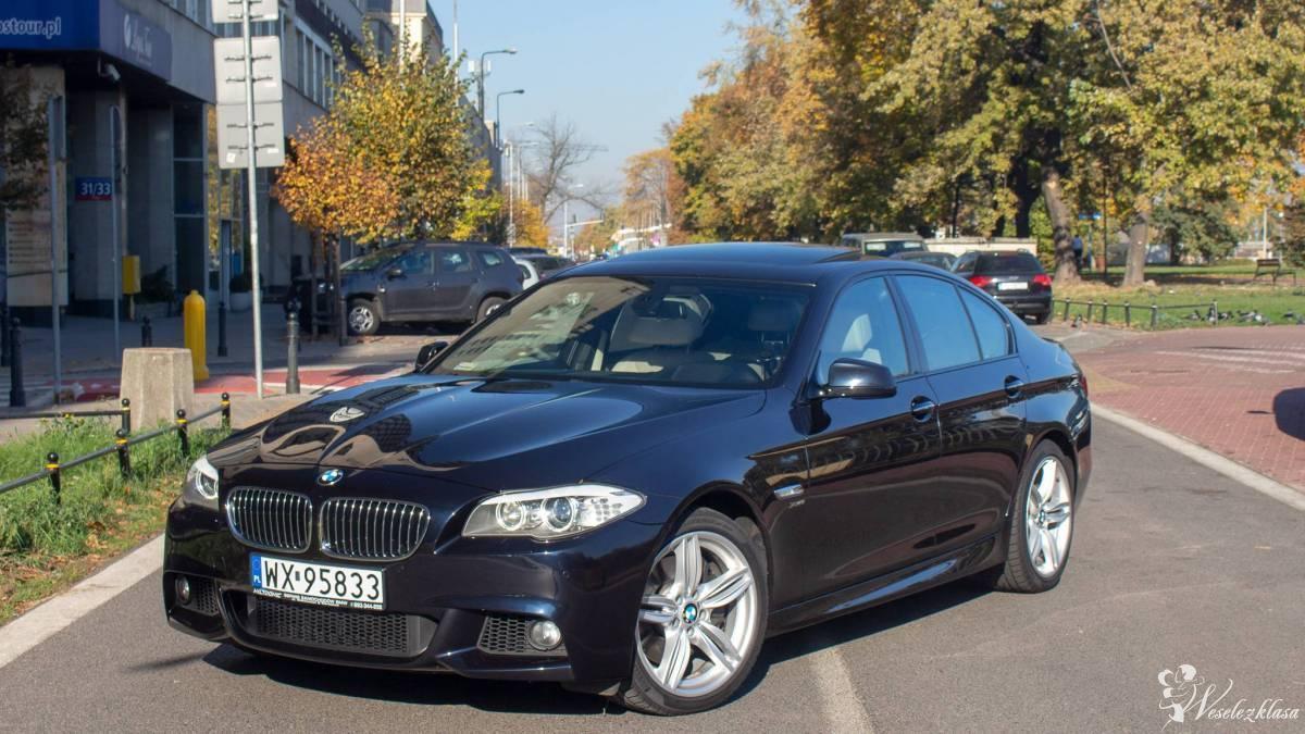 Piękne, rozsądne cenowo, ciemno-granatowe BMW Serii 5 z kremową skórą, Warszawa - zdjęcie 1