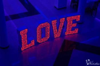 Prześliczny, Ogromny, Ażurowy napis LOVE, FOTOBUDKA FOTOFUN, Napis Love Kosów Lacki