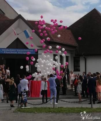 Pudło z balonami helowymi / Atrakcje / MAMUTEK, Balony, bańki mydlane Wilamowice