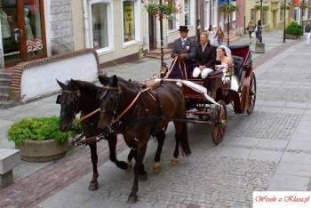 Ekskluzywna bryczka ślubna, powóz konny na wesele, Bryczka do ślubu Orneta