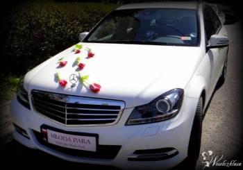 CAB Luksusowy Biały Mercedes W204 na Twój Ślub, Samochód, auto do ślubu, limuzyna Nowy Sącz