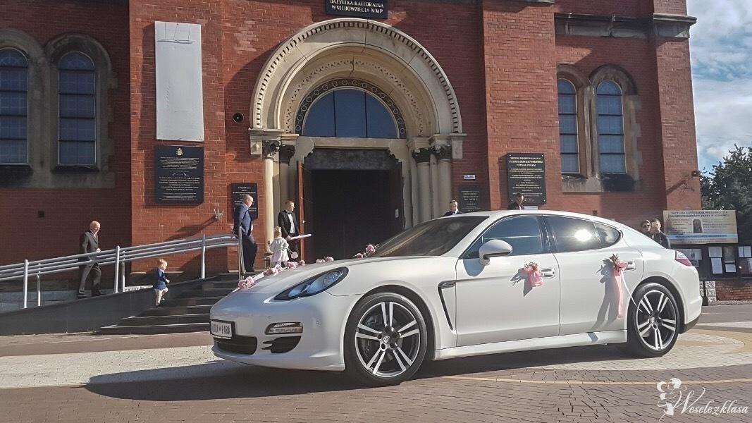 Porsche Panamera do ślubu białe, Kraków - zdjęcie 1