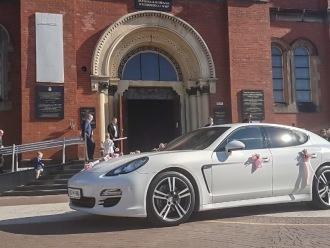 Porsche Panamera do ślubu białe, Samochód, auto do ślubu, limuzyna Sucha Beskidzka
