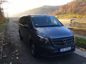 Komfortowy Mercedes Vito 8 osobowy do wynajęcia, przewóz osób, Wynajem busów Wisła