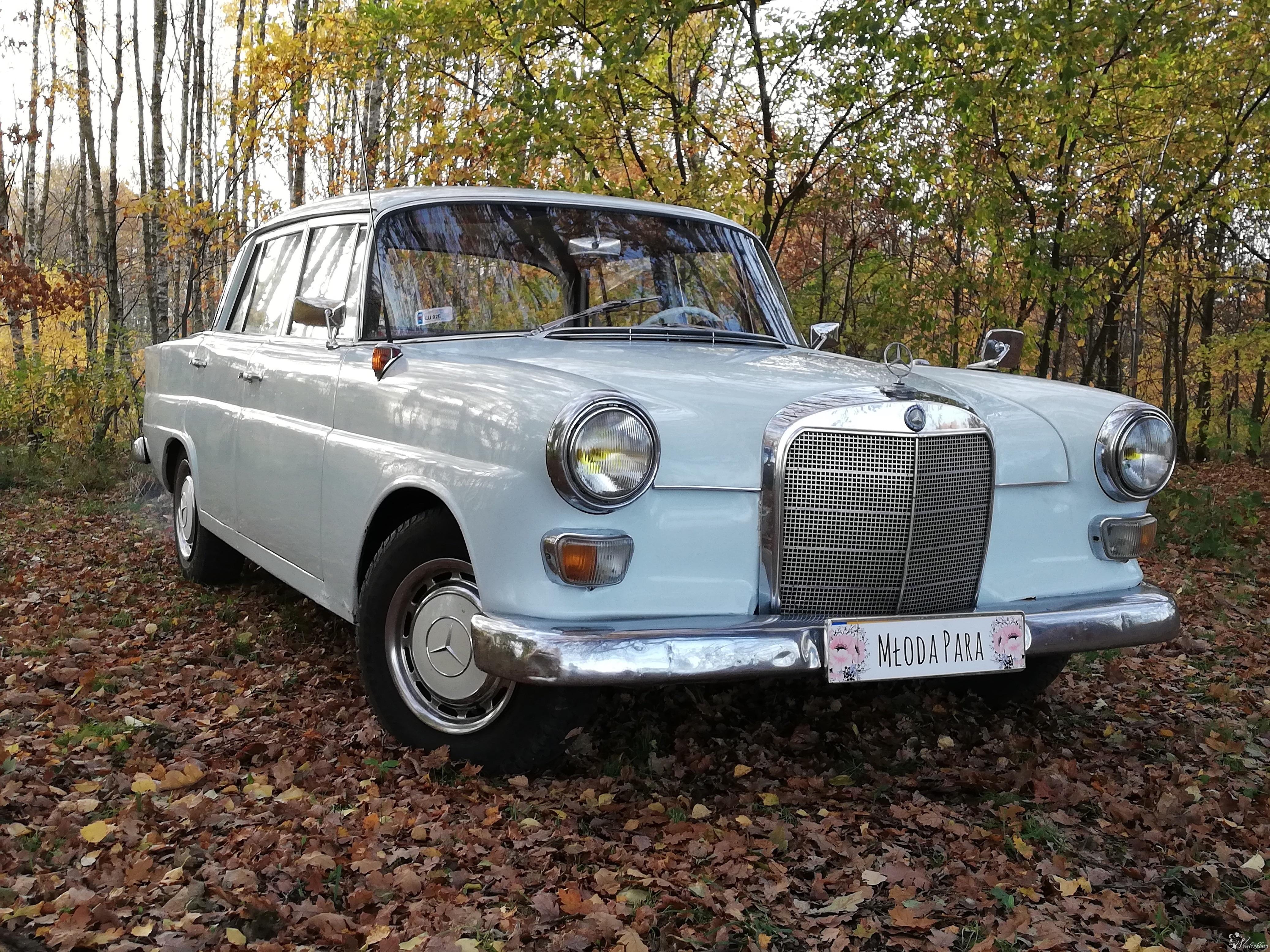 Mercedes W110 1962r skrzydlak wynajem do ślubu, Łódź - zdjęcie 1