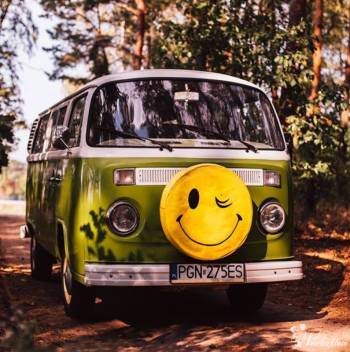 Ogórkowe Love - samochód klasyk vw t2 auto do ślubu/7 osób/boho ogórek, Samochód, auto do ślubu, limuzyna Międzychód