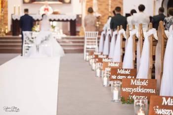 Dekoracje sal weselnych, kościołów, aut, bukiety, Dekoracje ślubne Kobylin
