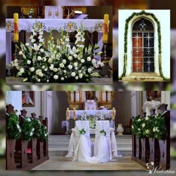 dekoracja kościoła dekoracja sali weselnej, Kwiaciarnia, bukiety ślubne Bielawa