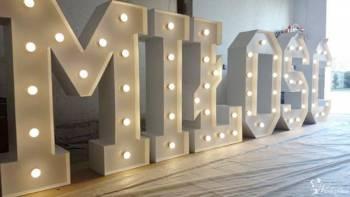WYNAJMĘ napis MIŁOŚĆ napis LOVE podświetlany LED - Napisy LOVE GUGU, Napis Love Tuchów
