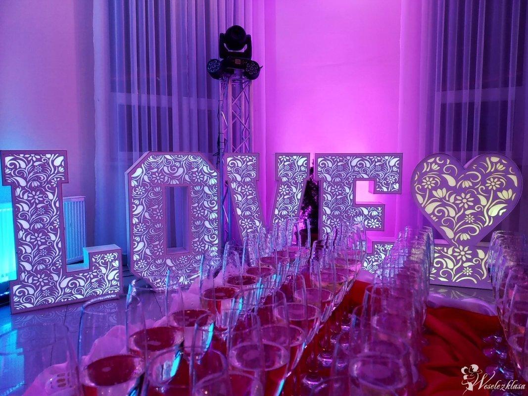 AŻUROWY NAPIS LOVE + PODŚWIETLANE SERCE  HIT!!!, Nogawki - zdjęcie 1