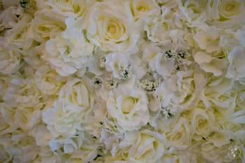 Ścianka kwiatowa, Dekoracje ślubne Knurów