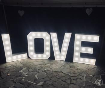 Wypożyczalnia atrakcji i dekoracji : napis LOVE, Candy Bar i inne, Napis Love Lubomierz
