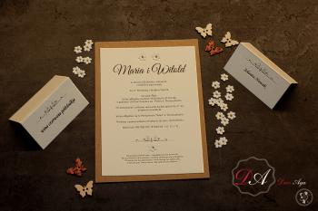 Śliczne zaproszenia ślubne ECO, Zaproszenia ślubne Gliwice