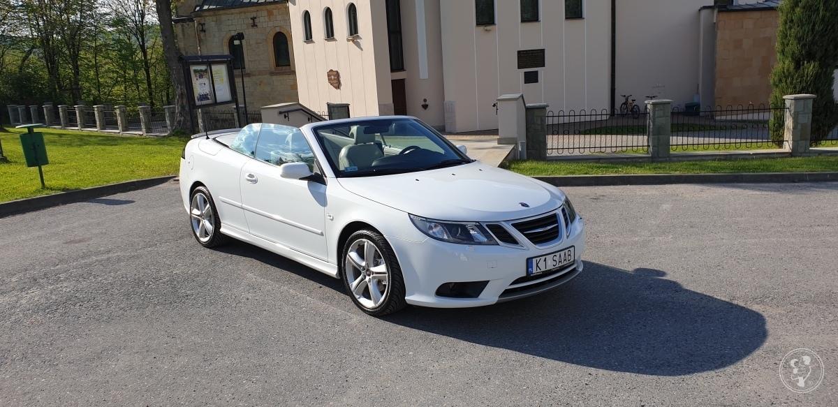 Samochód biały auto do ślubu/wesela SAAB 9-3 CABRIO-24 Godziny wynajmu, Myślenice - zdjęcie 1