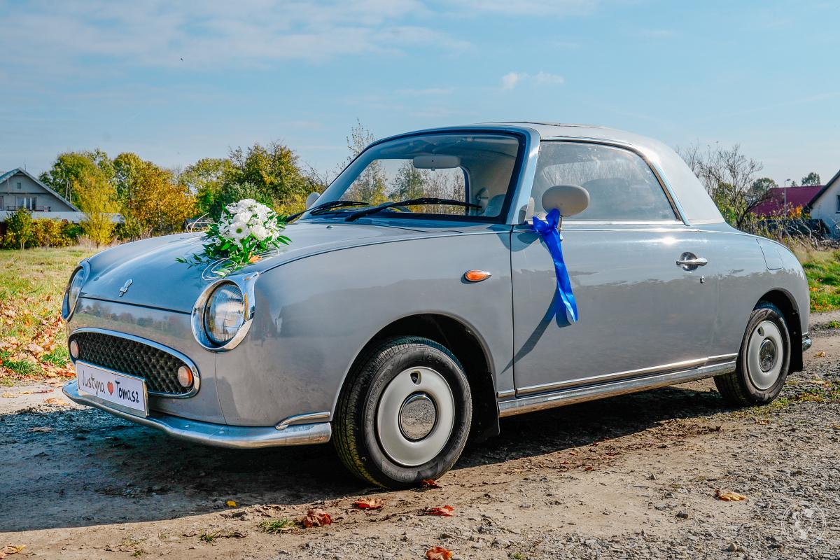 Nissan Figaro piękny klasyk do ślubu, Chojnów - zdjęcie 1