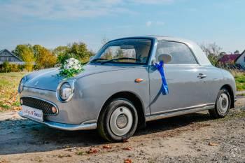Nissan Figaro piękny klasyk do ślubu, Samochód, auto do ślubu, limuzyna Bolków