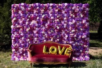 Ścianki kwitowe, łuki ślubne, ołtarze, pergole, sofy i krzesła, Dekoracje ślubne Sochaczew