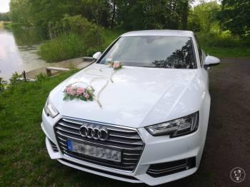 Biały samochód / auto do ślubu / wesela AUDI A4 - 3 przystrojenia, Samochód, auto do ślubu, limuzyna Żmigród