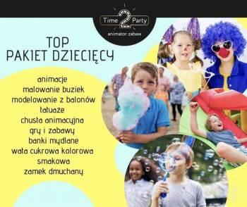 -PROMOCJA-ANIMATOR DLA DZIECI+WATA CUKROWA+ZAMEK DMUCHANY+FOTOBUDKA, Animatorzy dla dzieci Żuromin