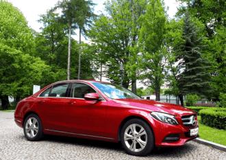 Mercedes klasa C Comfort pełen AMG - Fuksja Metalik,  Jasło