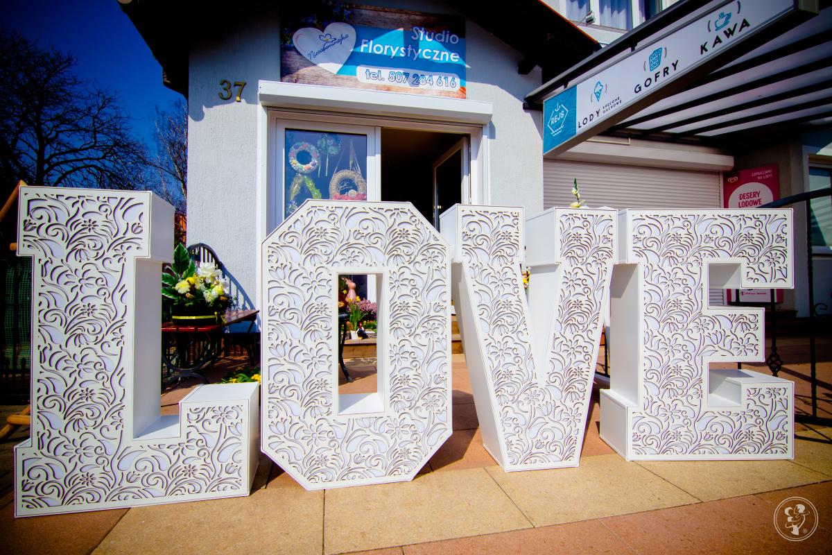 Ażurowy napis LOVE/Dekoracja ślubna/Podświetlana atrakcją weselna, Dziwnów - zdjęcie 1