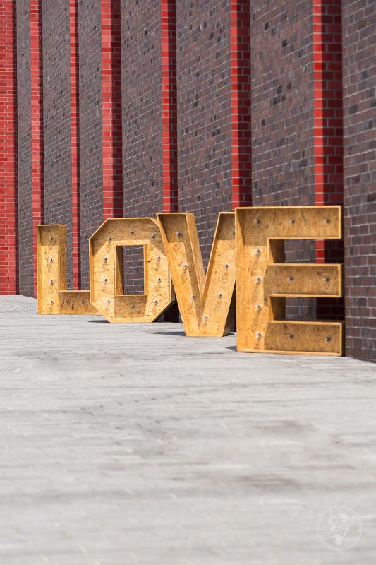 Napis LOVE - drewniany i podświetlany, Katowice - zdjęcie 1