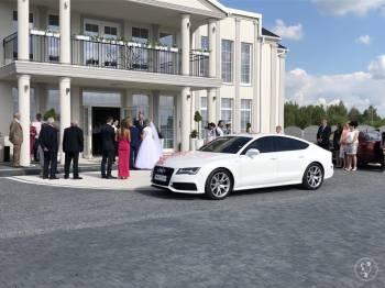 PIĘKNE BIAŁE AUDI A7 DO ŚLUBU I NA INNE OKAZJE!!!, Samochód, auto do ślubu, limuzyna Włoszczowa
