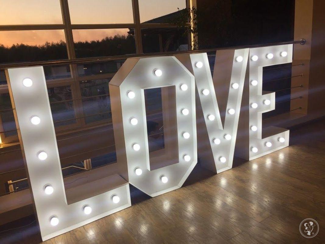 MAGIA LITER - Napis LOVE 3D LED wynajem 250zl : ślub, wesele, sesja, Olsztyn - zdjęcie 1