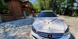 Luksusowy biały Mercedes z bordową skórą na Twój Ślub, Kraków - zdjęcie 4