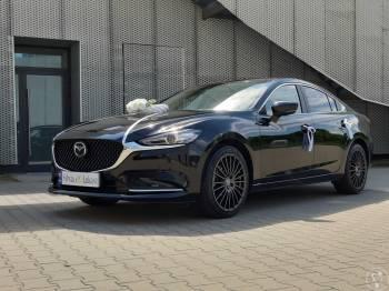 Czarna Mazda 6 do ślubu, Samochód, auto do ślubu, limuzyna Ostroróg