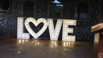 Kwiaciarnia Love Flowers - Świetlny napis LOVE, Napis Love Suchowola