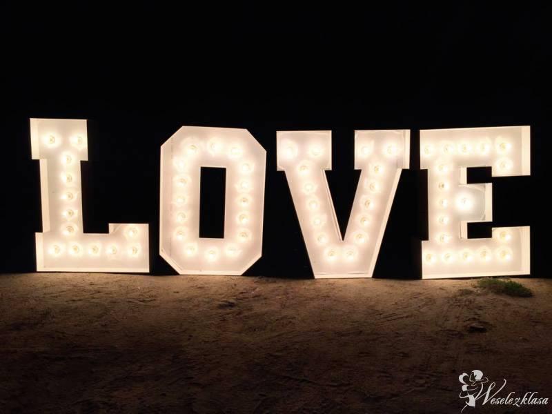Świecący Napis - litery LOVE Na wesele ślub sesję, Siedlce - zdjęcie 1