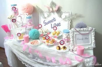 Sweet Love Candy Bar -  Słodki stół, Słodki kącik na weselu Ciechanowiec